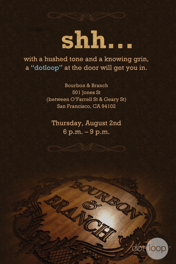 Speakeasy Invitation Strikethrough Copywriting